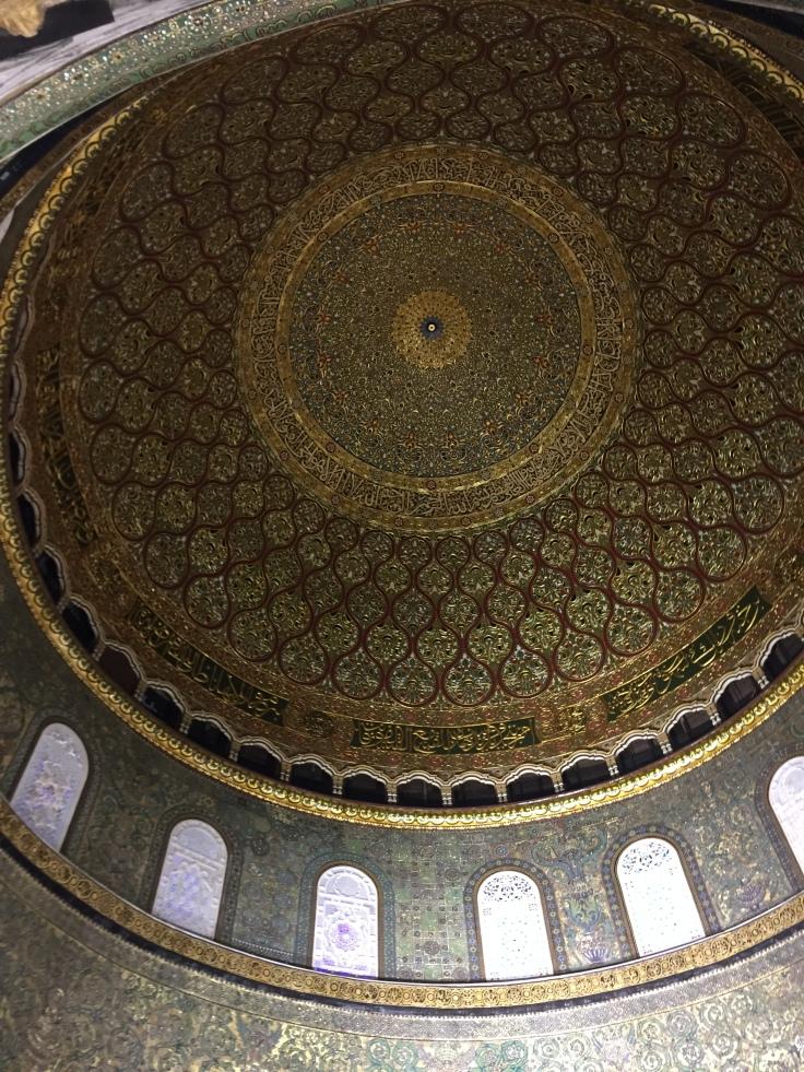 Dôme Dorée du Rocher de l'intérieur