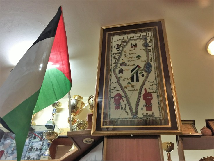 drapeau + carte Palestine brodée