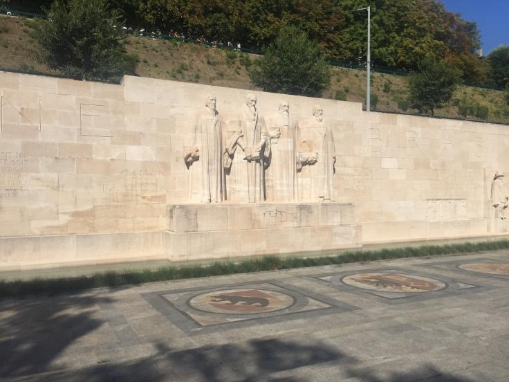 Genève promenade des bastions réformateurs