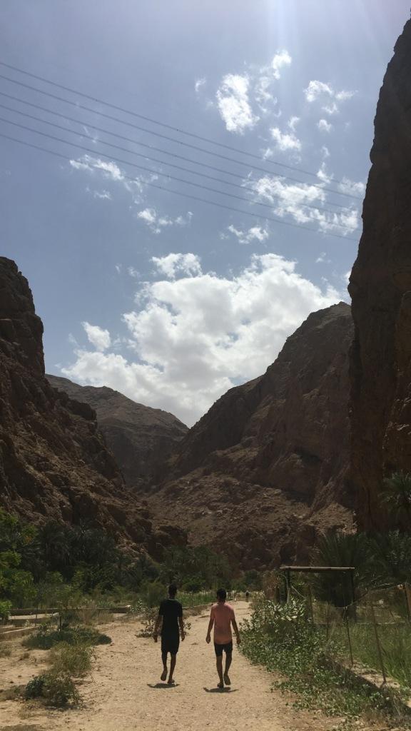 Wadi Shab après la traversée